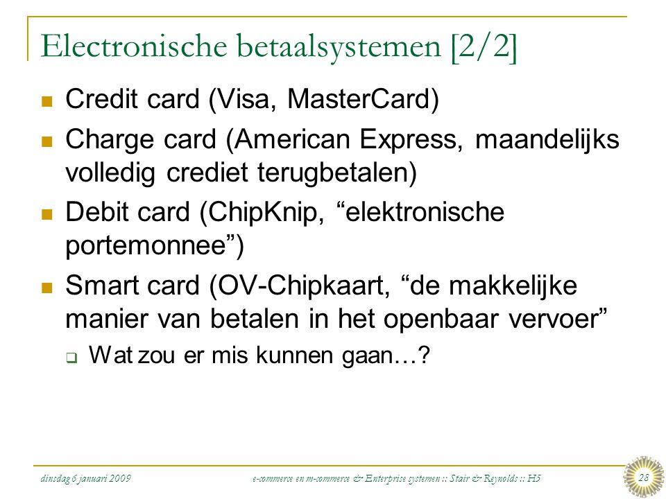 Electronische betaalsystemen [2/2]